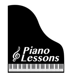 Piano lessons vector