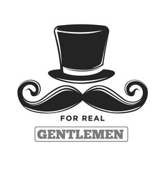 Private club only for real gentlemen black vector