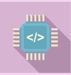 Programming processor icon flat arduino vector