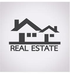 real estate design icon vector image
