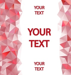 Red polygons background with place for your text vector image