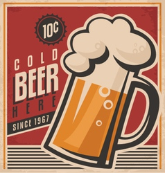 Retro beer poster vector image