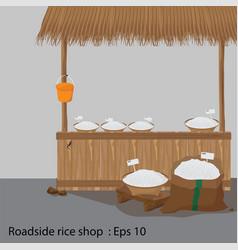 roadside rice shop vector image