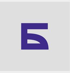 russian b abstract logo vector image
