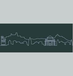 san marino single line skyline vector image