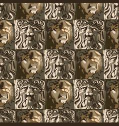 seamless pattern rectangular sculptures vector image