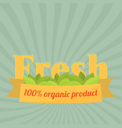 set of badges and labels elements for organic vector image