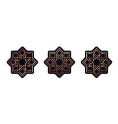 Set stickers for ramadan vector