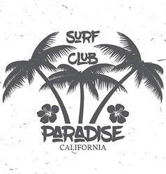 set surf club concept vector image