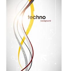 Silver Techno Background vector