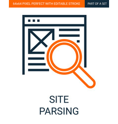 simple outline site document parsing vector image