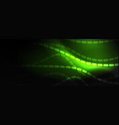 Smoky glowing waves in dark dark abstract vector