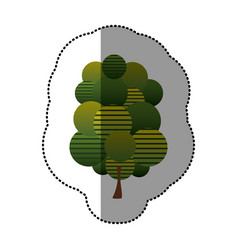 Stamp stylized tree icon vector