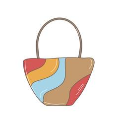 summer bag doodle vector image