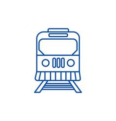 train in city line icon concept train in city vector image