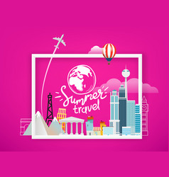 travel around world concept summer travel vector image
