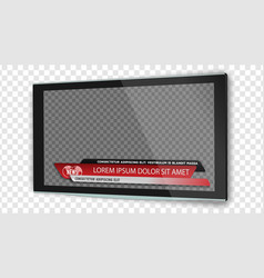 tv flat screen lcd with news bars or lower third vector image
