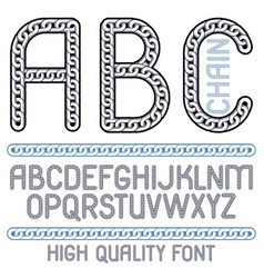 Type font script from a to z capital creative vector