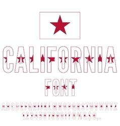 USA flag font vector image
