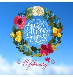 Vilentines day greeting card vector image