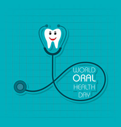 World oral health day design- 20 march vector