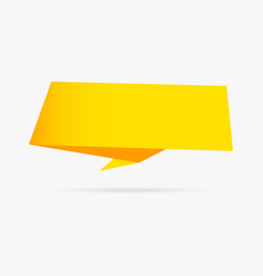yellow banner origami ribbon paper infographic vector image