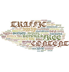 little known ways to generate free traffic text vector image vector image