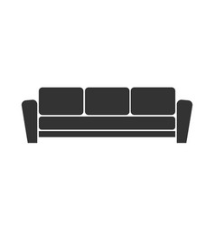 sofa icon on white background vector image