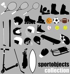 sport equipment set vector image vector image