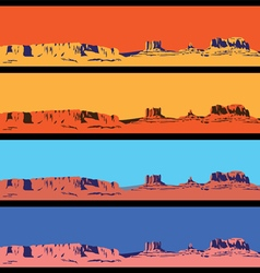 Wild West mini set vector image vector image