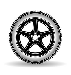Auto wheel black vector