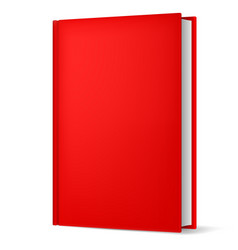 Classic red book in front vertical view isolated vector