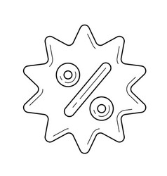 percent sticker line icon vector image