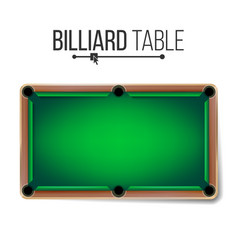 realistic billiard table american pool vector image vector image