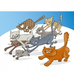 running cats vector image vector image