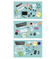variants of equipment desktop vector image