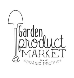 garden product market black and white promo sign vector image
