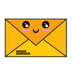 mail envelope kawaii character vector image