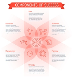 success Infographic elements vector image vector image