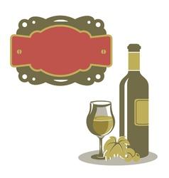 White wine menu icon vector image vector image