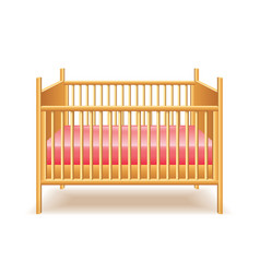 baby bed isolated vector image vector image