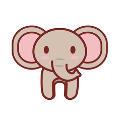 cartoon elephant animal image vector image vector image