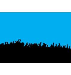 crowd hands at concert vector image