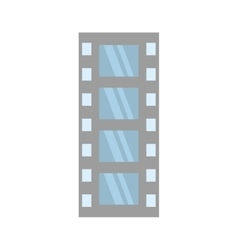 film strip negative equipment video vector image