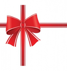 gift wrap bow vector image