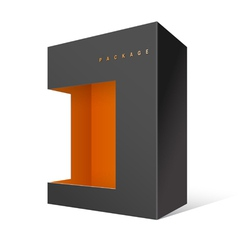 Modern Realistic Black Package Cardboard Box vector image vector image