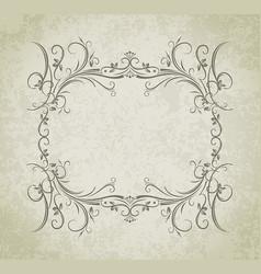 vintage frame on grunge style background vector image vector image