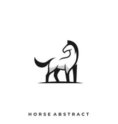 abstract horse template vector image