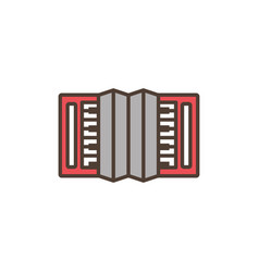 accordion oktoberfest icon line filled vector image