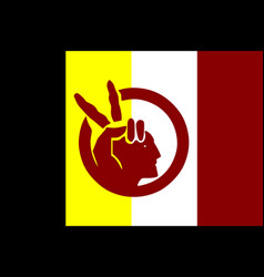 American indian movement flag in proportions and vector